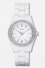 DKNY Ladies White Plastic Glitz Watch - Lyst