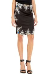Givenchy Paisley Trim Skirt - Lyst