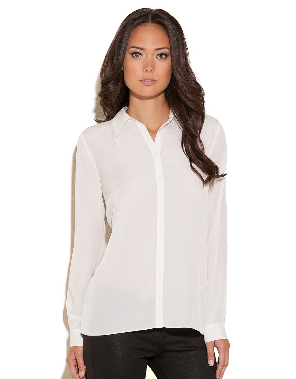 Guess White Blouse - Hot Black Blouse
