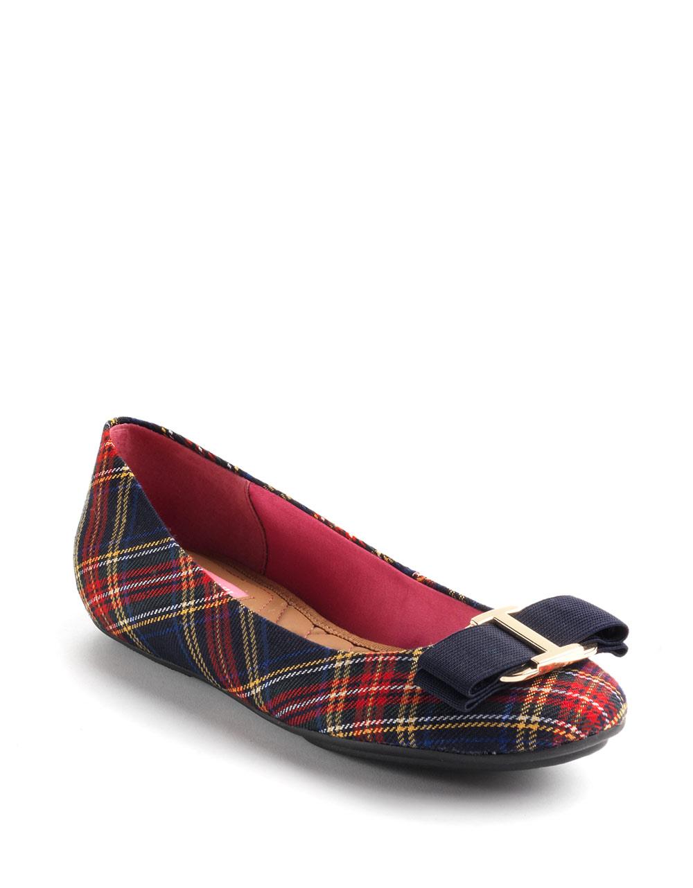 Womens Casual Plaid Shoes Blue
