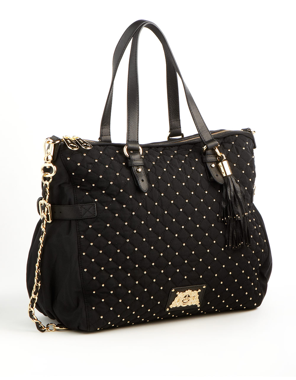 juicy couture studded quilted tote bag in black lyst. Black Bedroom Furniture Sets. Home Design Ideas