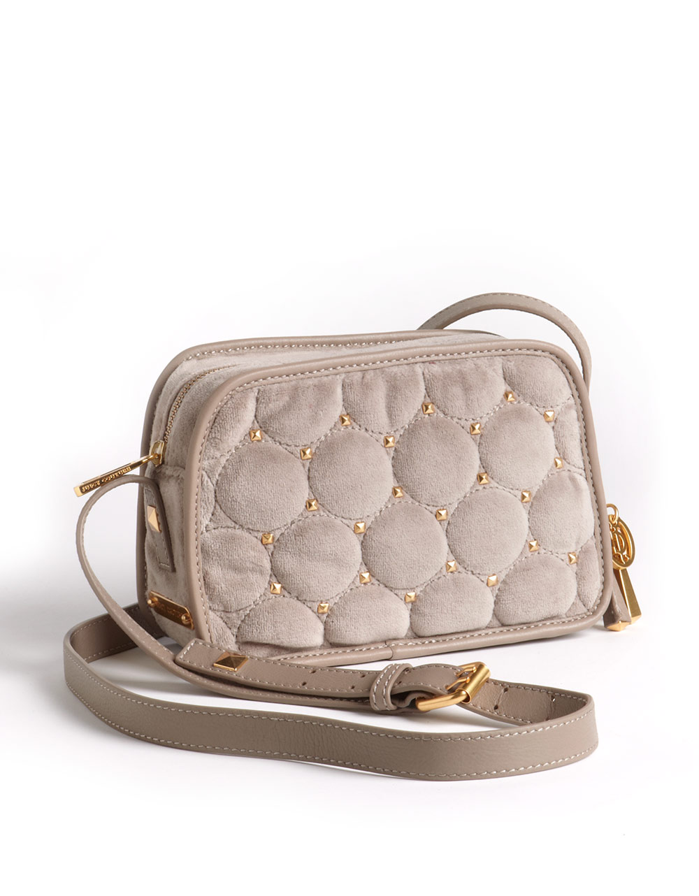 Lyst - Juicy Couture Frannie Quilted Velour Crossbody Bag in Natural dcf2d701c