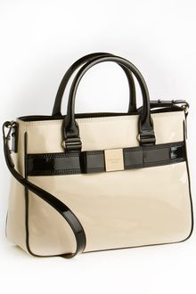 Kate Spade Patent Leather Satchel Bag - Lyst