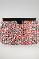 Marni Leavesgrid Flat Clutch Bag - Lyst