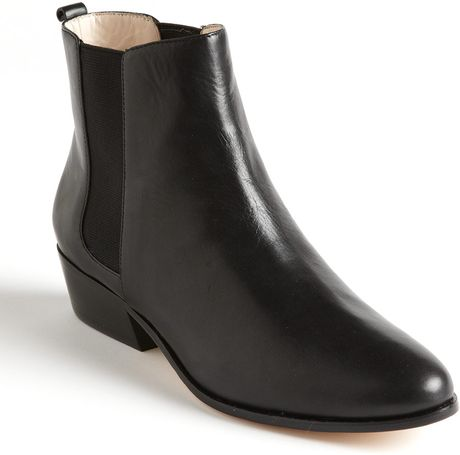 Michael By Michael Kors Marden Leather Ankle Boots in Black (black calf)