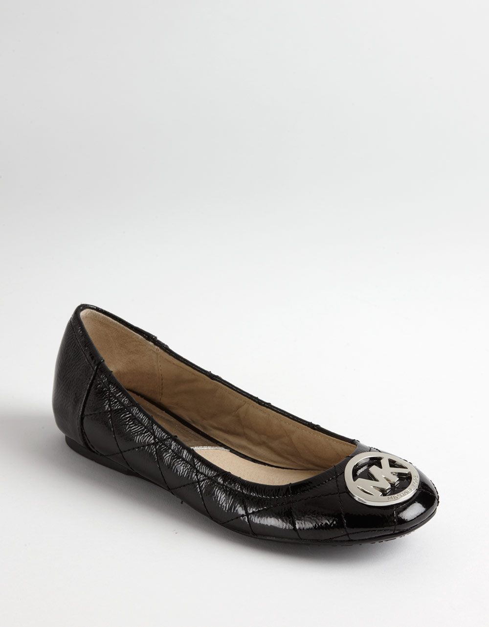 7f2ccbaca019 Lyst Michael Kors Fulton Quilted Leather Ballet Flats In Black. Fulton  Quilted Ballerina Flat