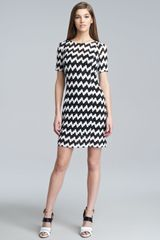 Missoni Chevron Stitched Short-sleeve Dress - Lyst