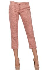 MSGM Techno Cotton Tweed Trousers - Lyst