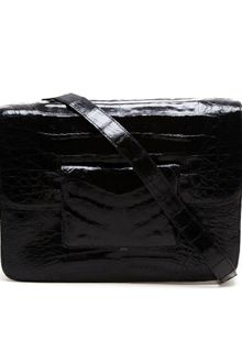 Nancy Gonzalez Structured Crocodile Shoulder Bag - Lyst