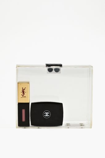 Nasty Gal Crystal Clear Box Clutch - Lyst