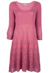 Philosophy di Alberta Ferretti Long Sleeve Knit Dress - Lyst