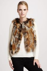 Pologeorgis Patchwork Fox Fur Vest - Lyst
