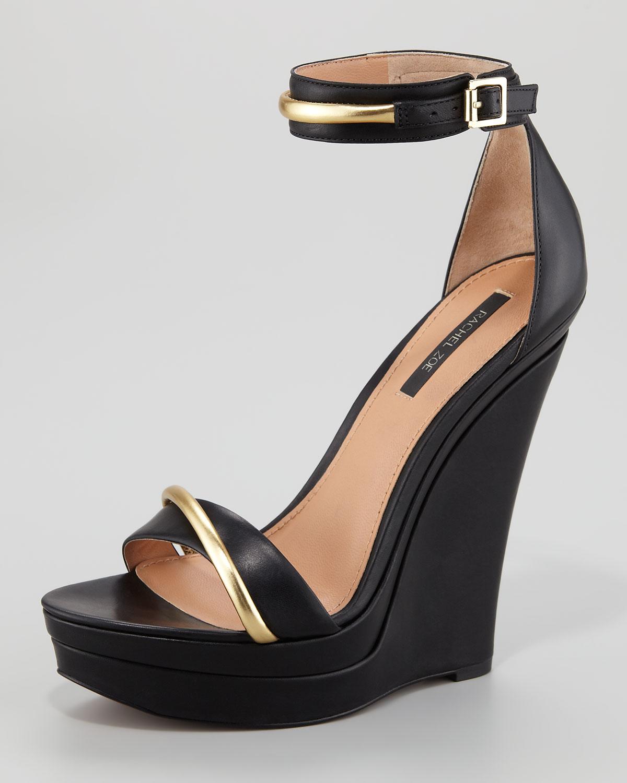Lyst - Rachel Zoe Katlyn Platform Wedge Sandal in Black