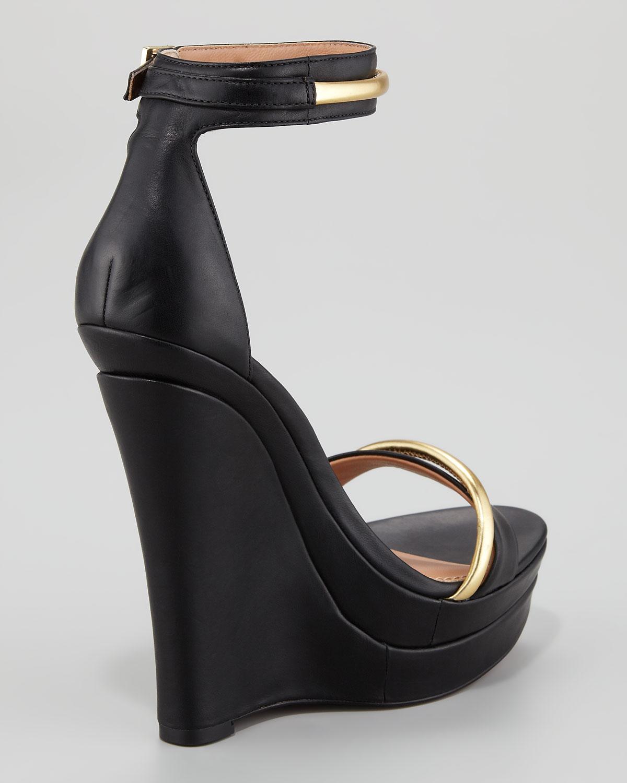 87e88dac2500 Lyst - Rachel Zoe Katlyn Platform Wedge Sandal in Black