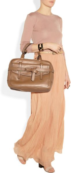 Reed Krakoff Fighter Leather Bowling Bag In Brown Lyst