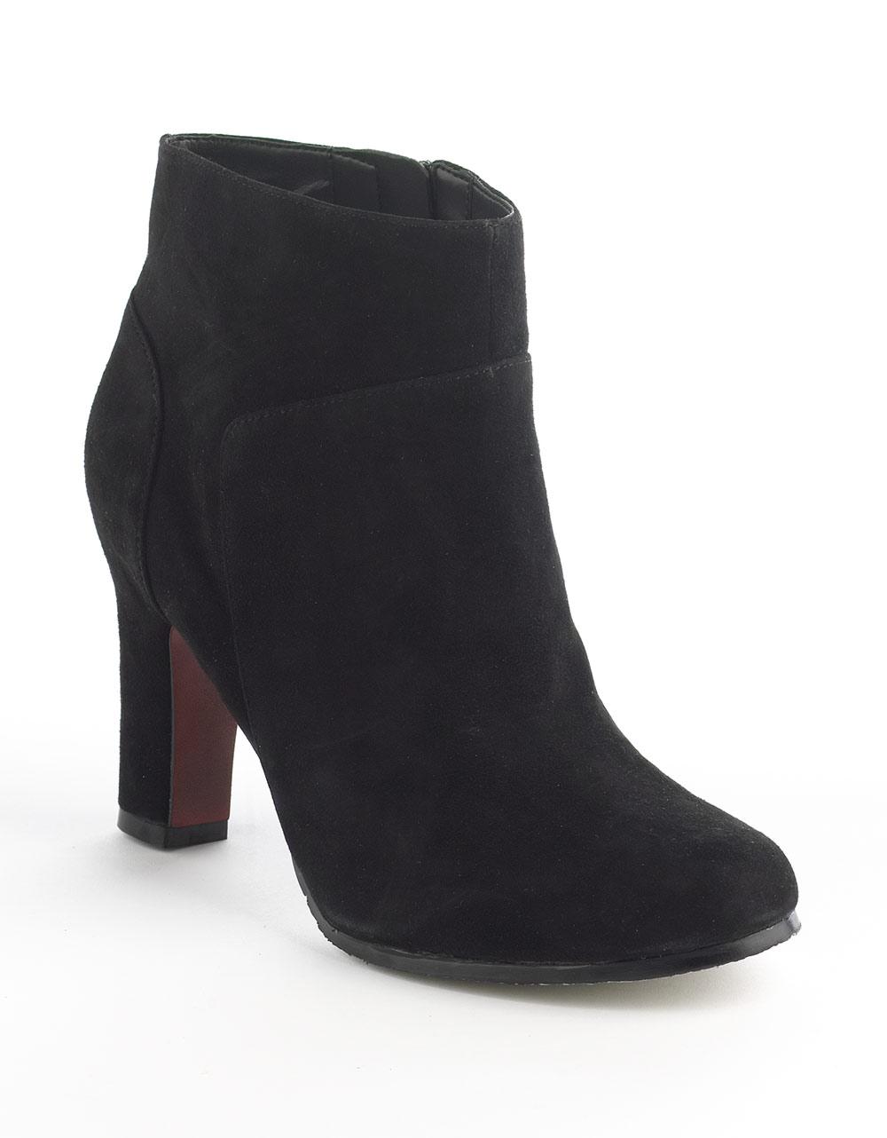 sam edelman salina suede ankle boots in black black suede