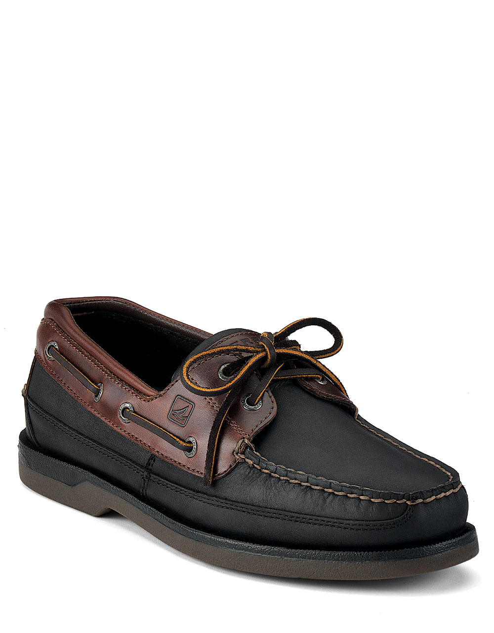 sperry top sider black mako boat shoes in black for lyst