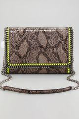 Stella McCartney Faux Python Falabella Shoulder Bag - Lyst