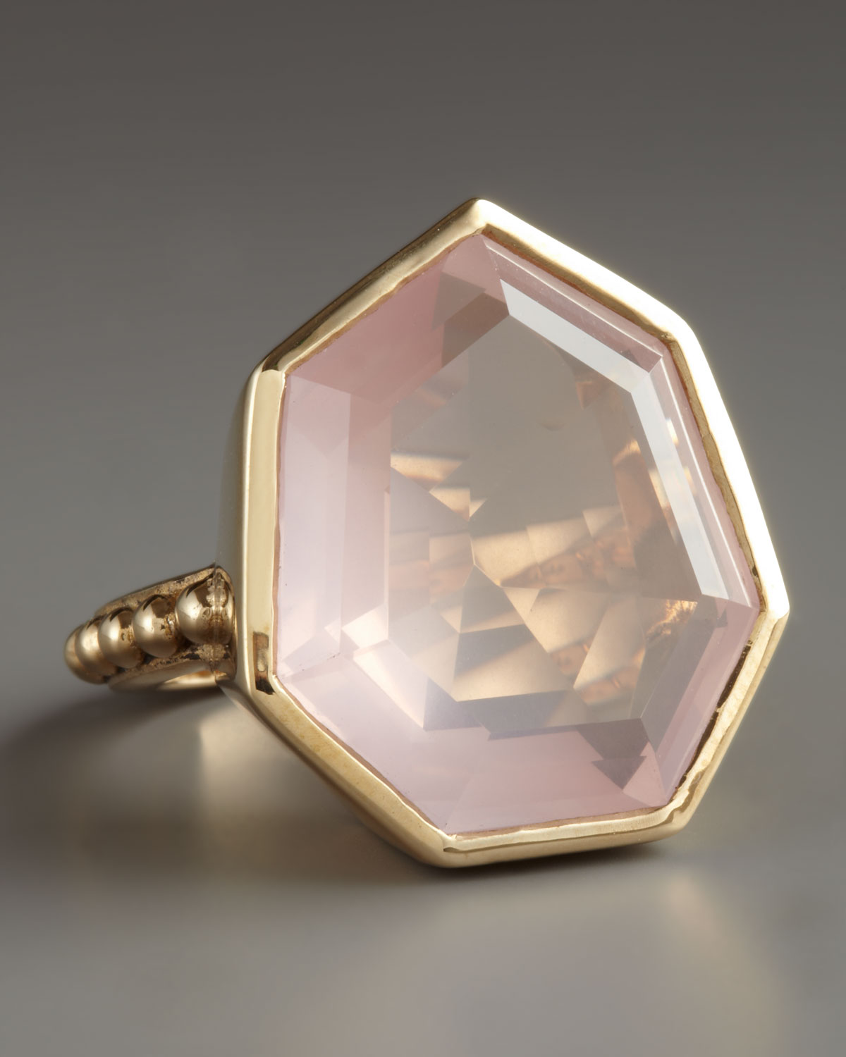 Stephen Dweck Faceted Rose Quartz Ring In Pink Lyst