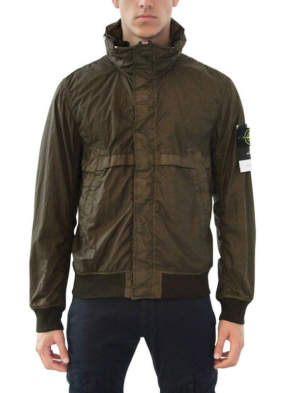 Stone island Waterproof Dyed Nylon Bomber Jacket in Green for Men