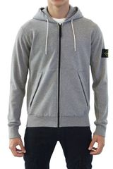 Stone Island Dyed Cotton Fleece Sweatshirt - Lyst