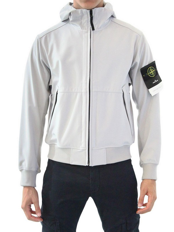 Lyst - Stone island Waterproof Nylon Jersey Casual Jacket in White ...