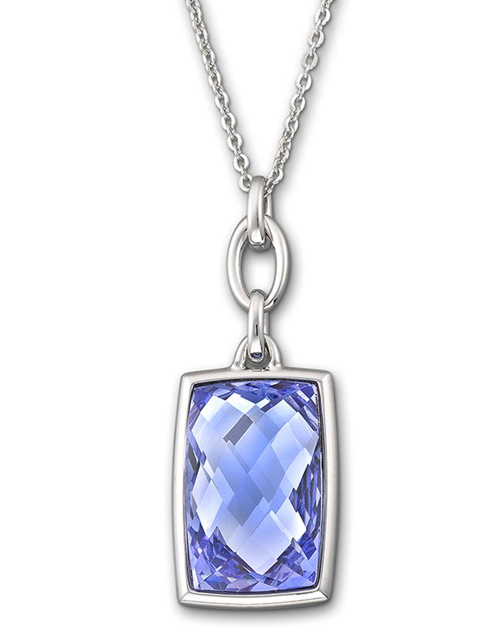 Swarovski nirvana tanzanite crystal pendant necklace in for Swarovski jewelry online store