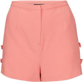 Topshop Bow Side Shorts - Lyst