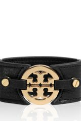 Tory Burch Logo Wide Double Snap Cuff - Lyst
