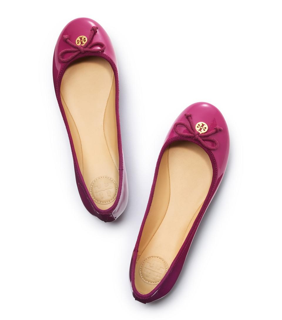 b516b5eddbb Lyst - Tory Burch Chelsea Ballet Flat in Purple