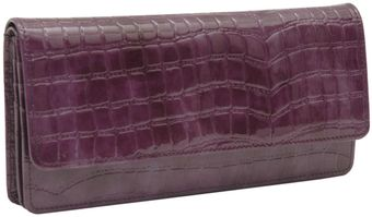 Tusk Croco Gusseted Clutch Wallet - Lyst