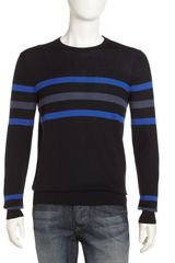 Vince Stripe Crewneck Sweater - Lyst