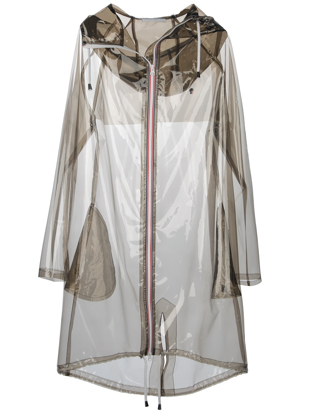 Wanda Nylon Long Hooded Raincoat Lyst