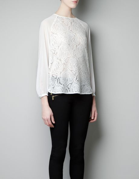 Zara Combined Lace Blouse 5