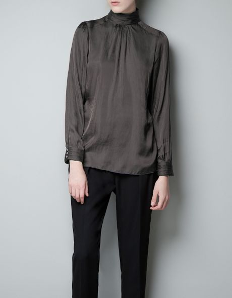 Zara Blouse With High Collar 33