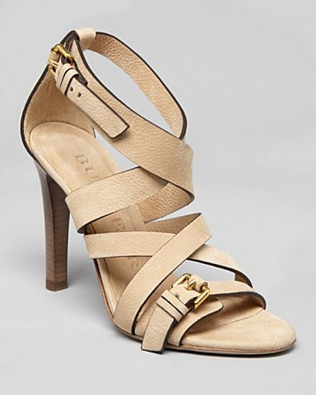 Burberry Sandals Aviator Aldborough High Heel in Beige (sand)
