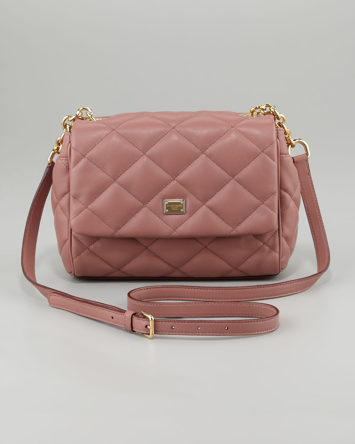 5085191bd5e5 Lyst - Dolce   Gabbana Miss Kate Quilted Crossbody Bag in Pink