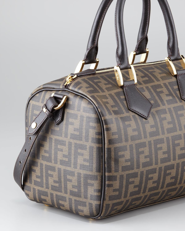 Boston Bag Patchwork Tutorial: Fendi Zucca Canvas Boston Bag In Brown