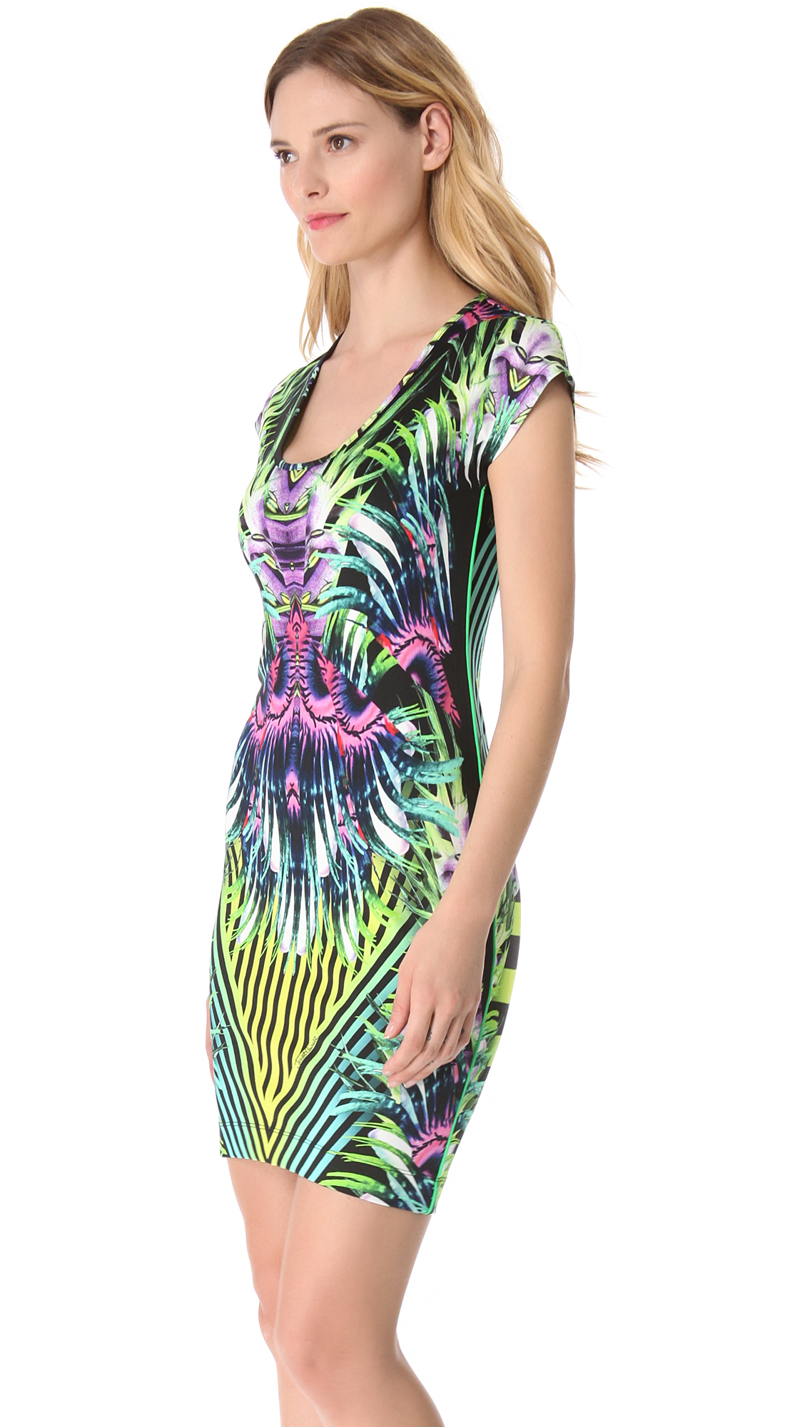 Lyst Just Cavalli Jungle Print Jersey Dress