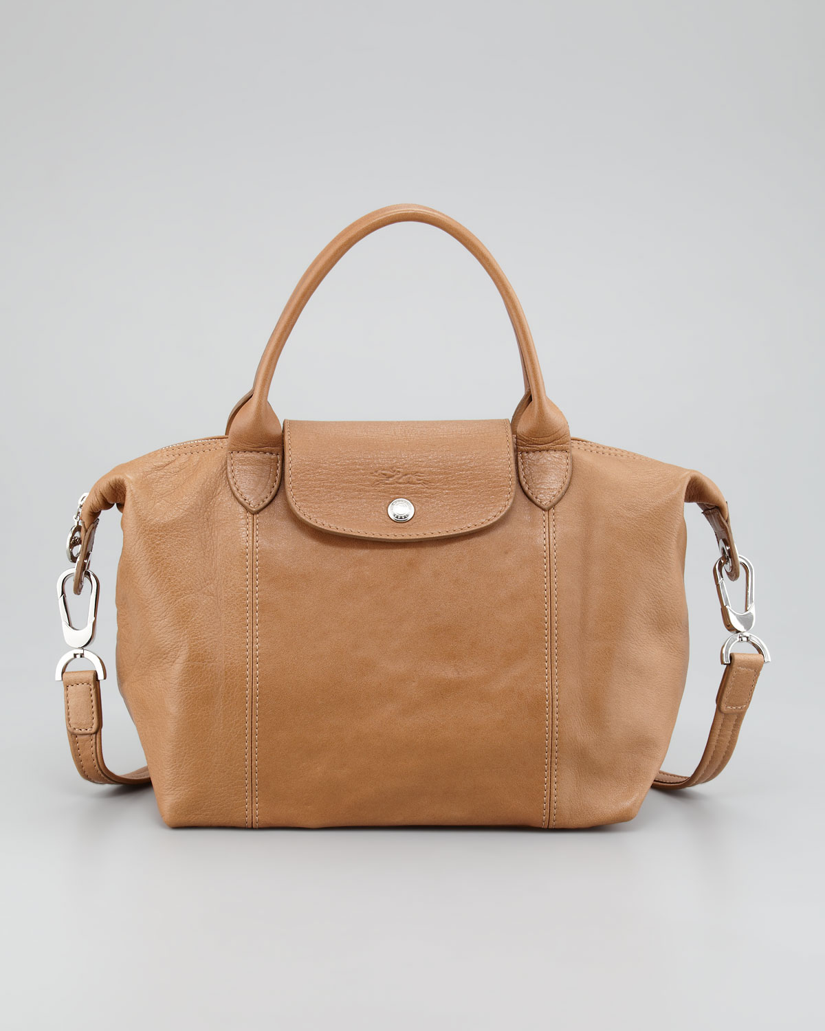 5fcdefe96e84 Lyst - Longchamp Small Leather Tote Bag in Brown