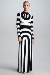 Marc Jacobs Piecedstripe Cut-out Dress - Lyst