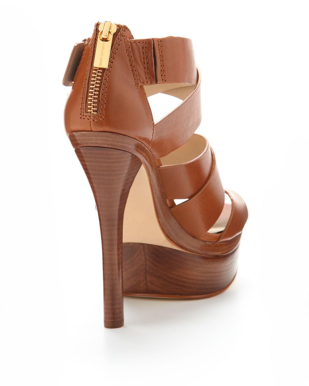 MICHAEL 7legf15v51 SANDRA PLATFORM - High heeled sandals - acorn oJN6MiXaJG