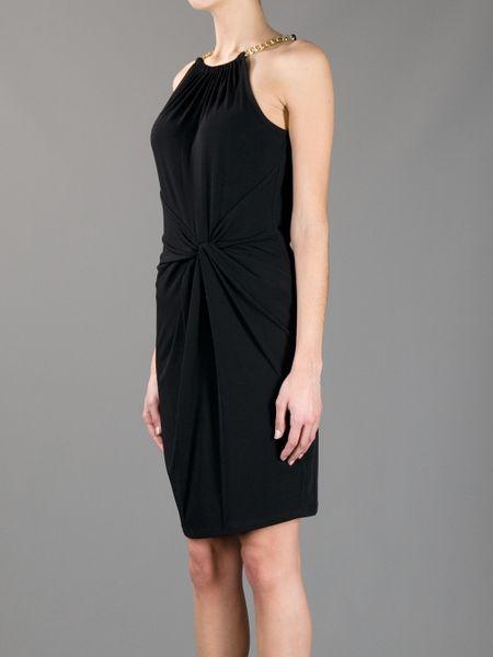Michael Kors Chain Neck Dress In Black Lyst