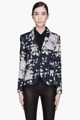 Rag & Bone Navy Blue Floral Bailey Blazer - Lyst