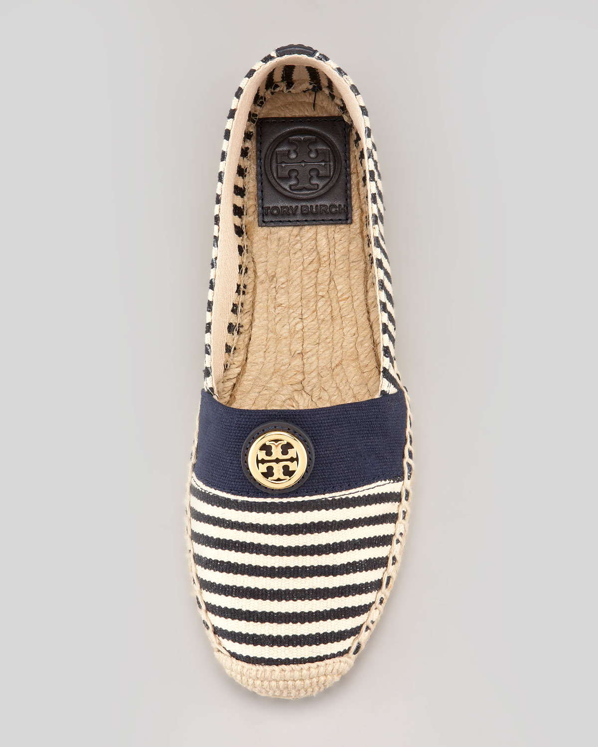 965de792c76 Lyst - Tory Burch Beacher Canvas Logo Espadrille Flat in Natural