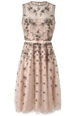 Valentino Embellished Mesh and Organza Dress