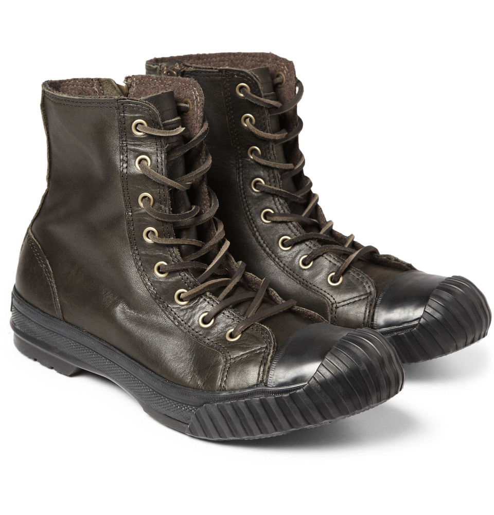 9e2be173a0e7 Lyst - Converse Bosey Chuck Taylor All Star Leather Boots in Brown ...