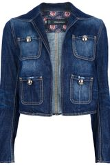 DSquared2 Cropped Denim Jacket - Lyst