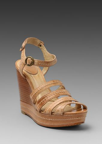 Frye Corrina Stitch Wedge Sandal - Lyst