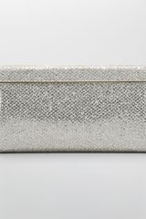 Jimmy Choo Cayla Metallic Flap Clutch Bag - Lyst